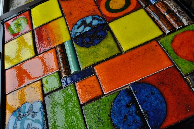 Vibrant Salsa ceramic art tiles - roycewood | ello