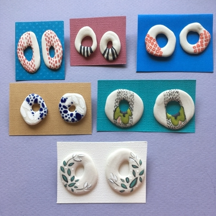 nuts donuts! Porcelain earrings - april_d_felipe | ello