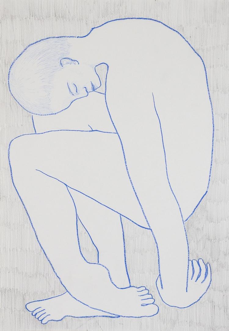 Blue Sleep, 2017 - crayon, sleep - juliaromana | ello
