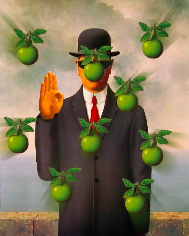 art, collage, magritte, thesonofman - gradient_folder | ello