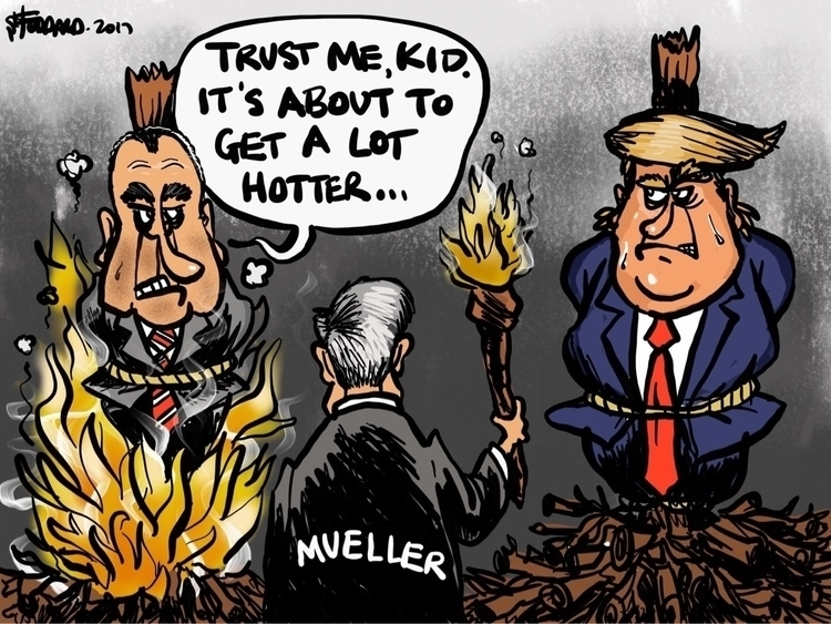 Witch Hunt - illustration,, cartoon, - sstoddard | ello