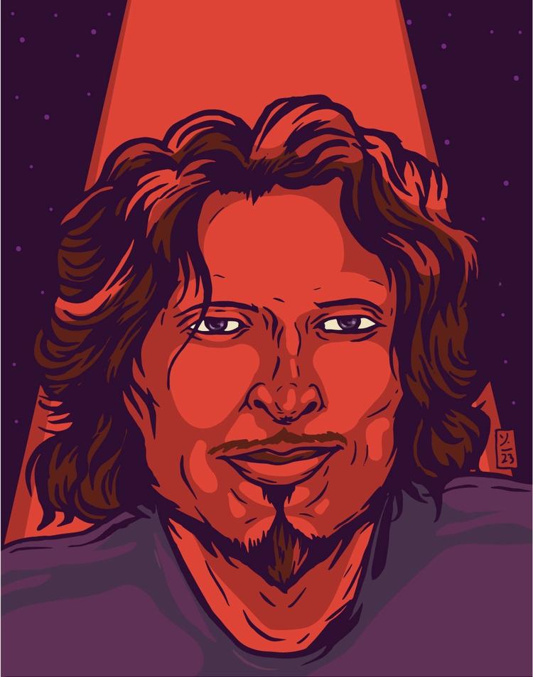 RIP Chris Cornell - illustration - thomcat23 | ello