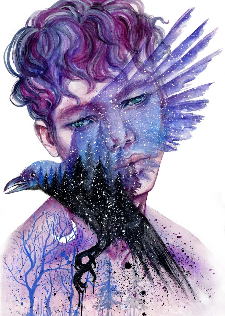 Exposure - watercolorpainting, fashion - ibreathart | ello