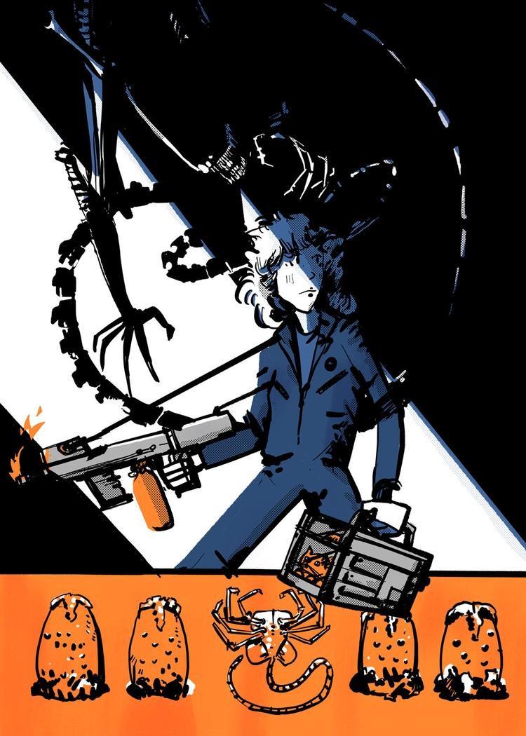 Fan Art Friday 19: Alien kill A - maljones | ello