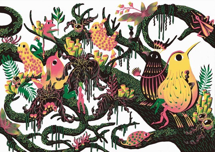 Rain forest - illustration, drawing - yuhsuan | ello