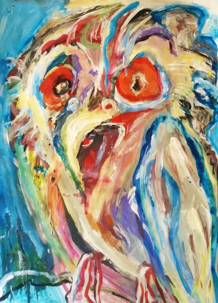 Bird psychological problems - painting - giannisrallis | ello