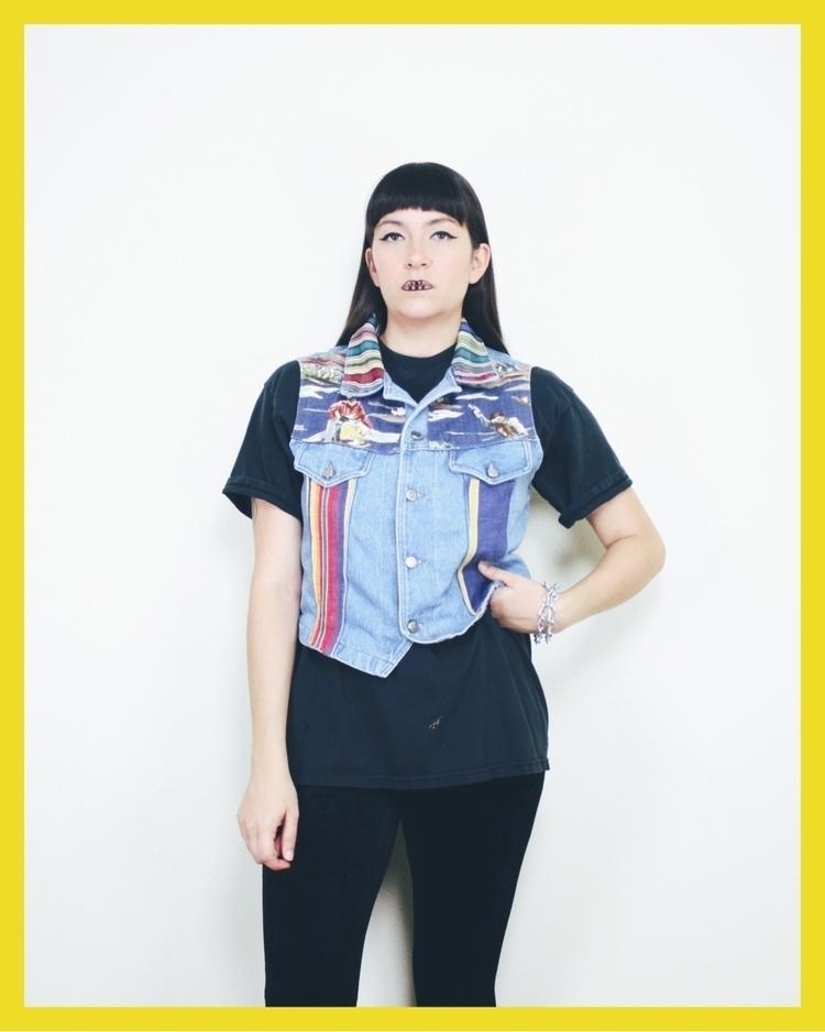 fill denim rodeo themed vest sh - neoncart | ello