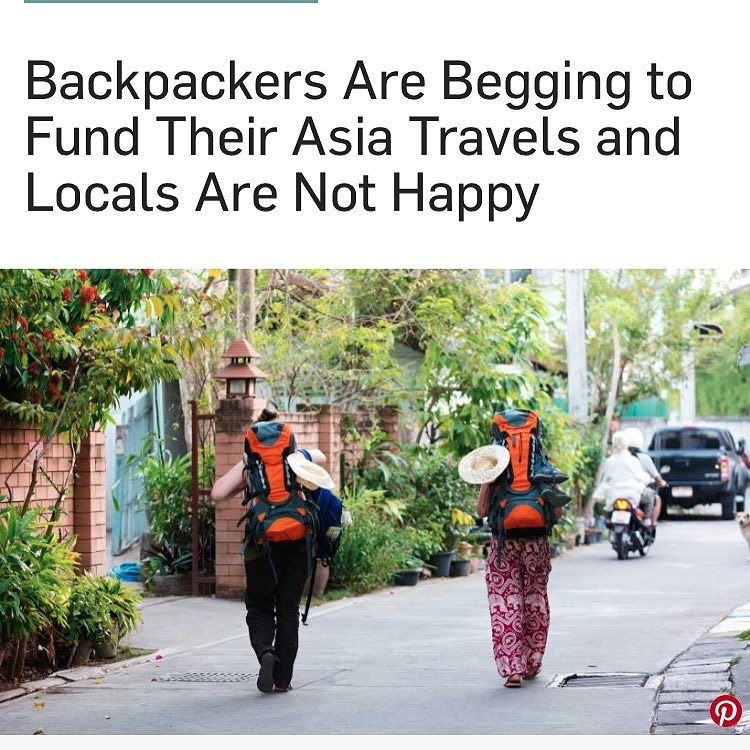 backpackers begging financial t - backpackers | ello