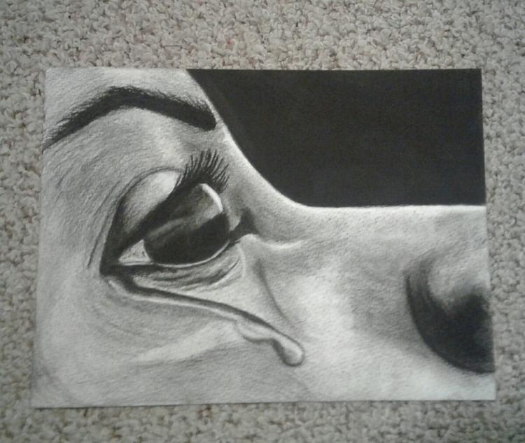 Charcoal watercolor paper - art - tabithasoleil | ello