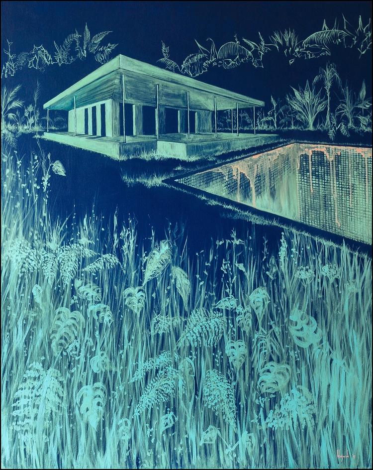 Painting: Grid, 80 100 cm - baswiegmink | ello