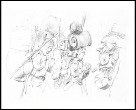 Migration War - draw pencil - illustration - mwchau | ello