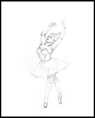 Ballet Dancer Dancing draw penc - mwchau   ello