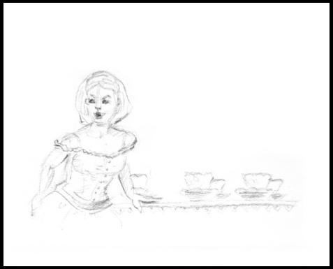 Tea Time draw pencil - illustration - mwchau | ello