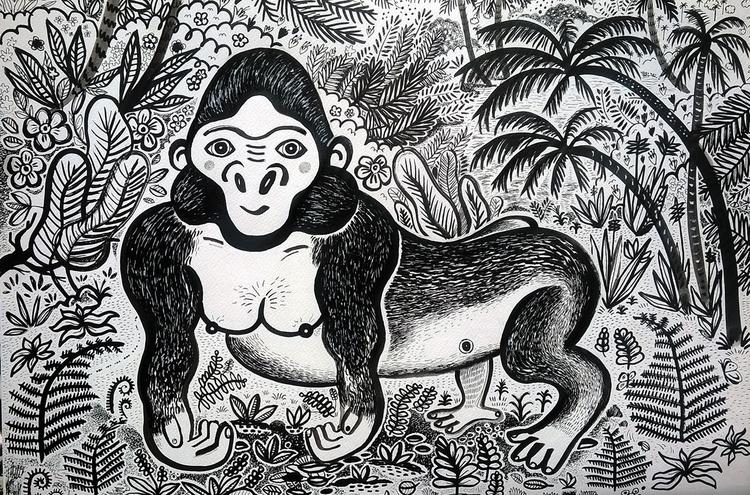 post ello~ mama - gorilla - anzupanzu   ello