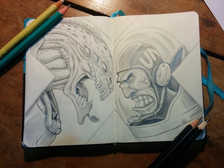 Sketchbook - pencil - aureliorauber   ello