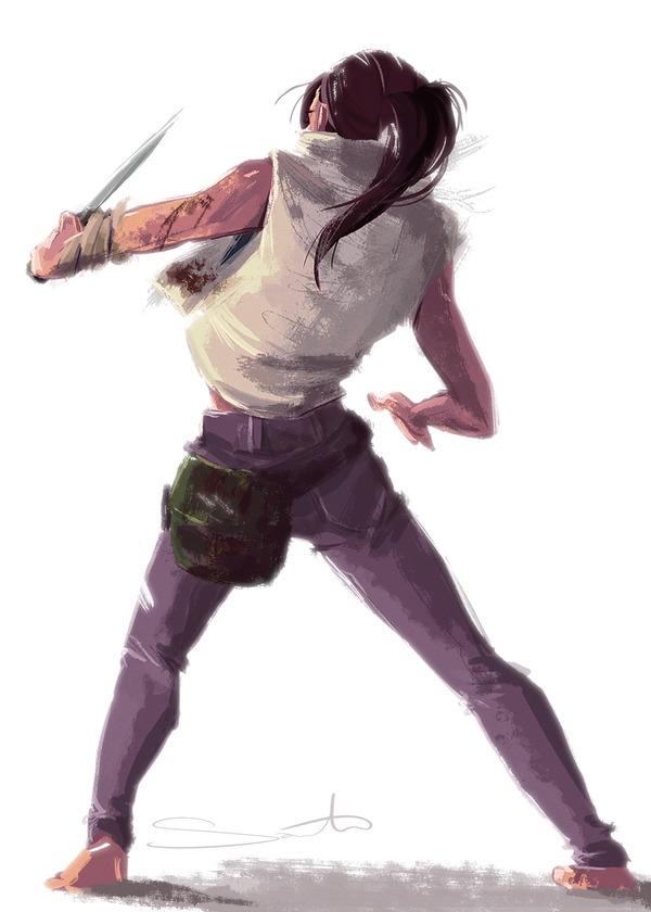 Lara Croft - sketchdailies - samanthadoodles | ello