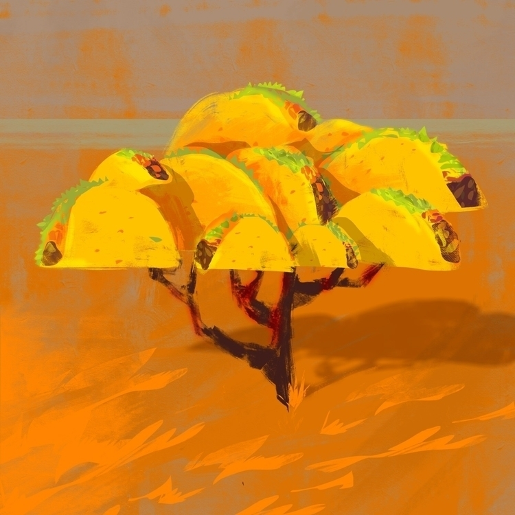 Taco Tree, Compassionate Cacti - cydgraphics | ello