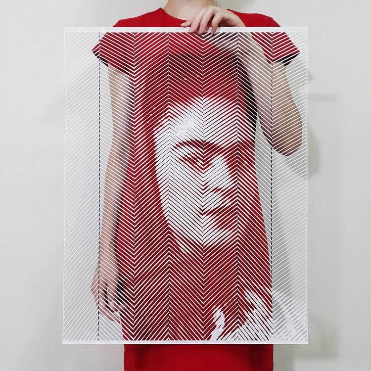 Amazing Paper Portraits Yoo Hyu - decorkiki | ello