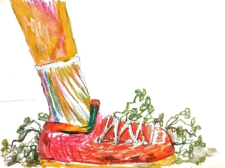 Stepping clovers - rachaelee_art | ello