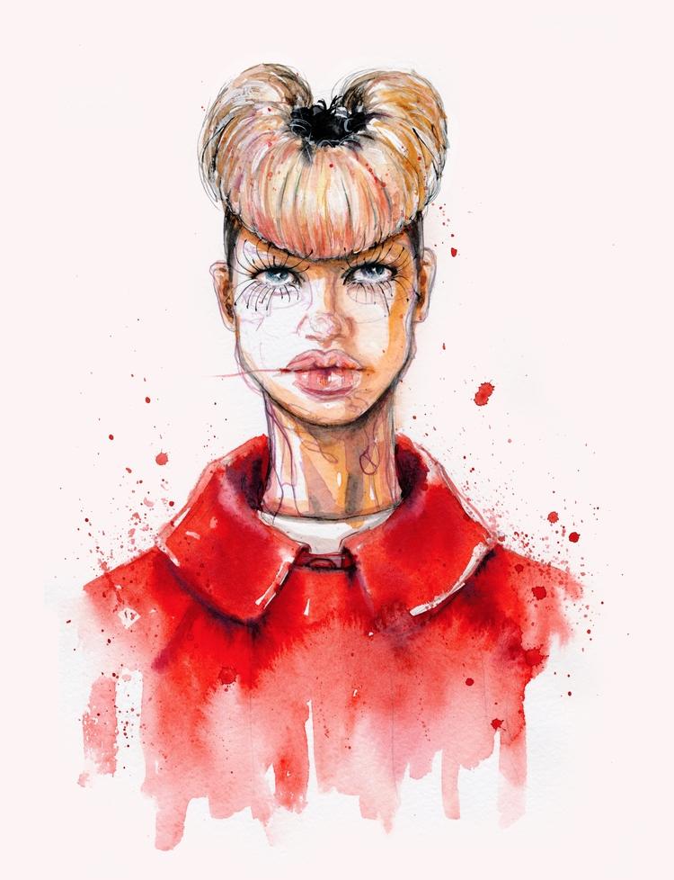 ...CommeDesGarcons - fashionillustration - ibreathart | ello
