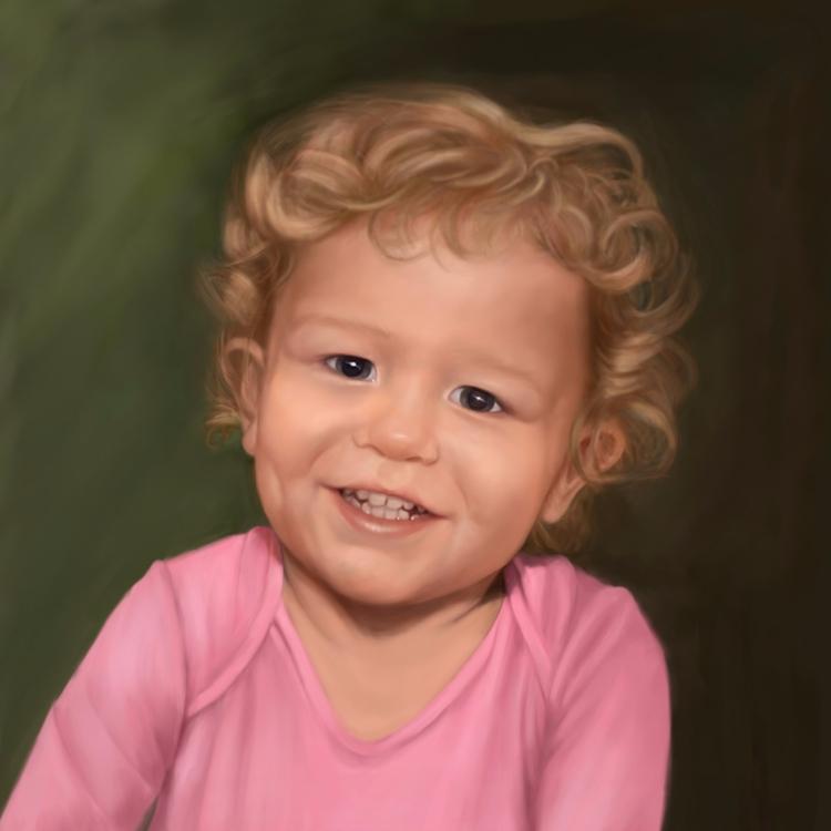 painting - Digital, portait, child - marjon-4891 | ello