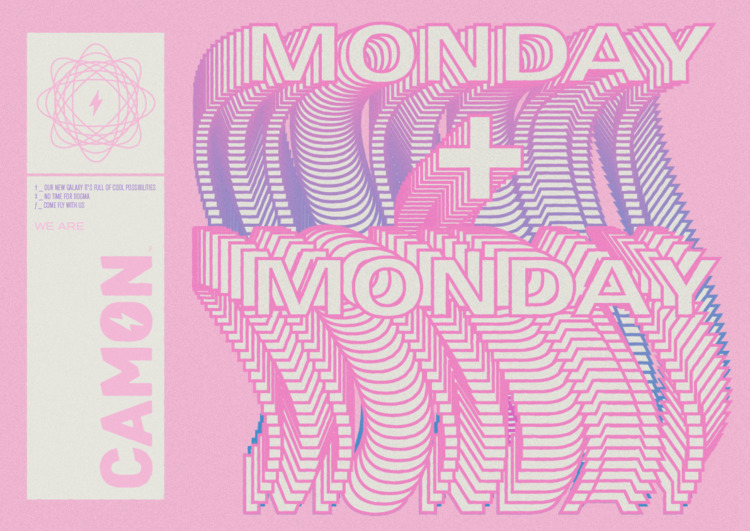 + MONDAY - repetition, lines2, somelines - gaston-camon | ello