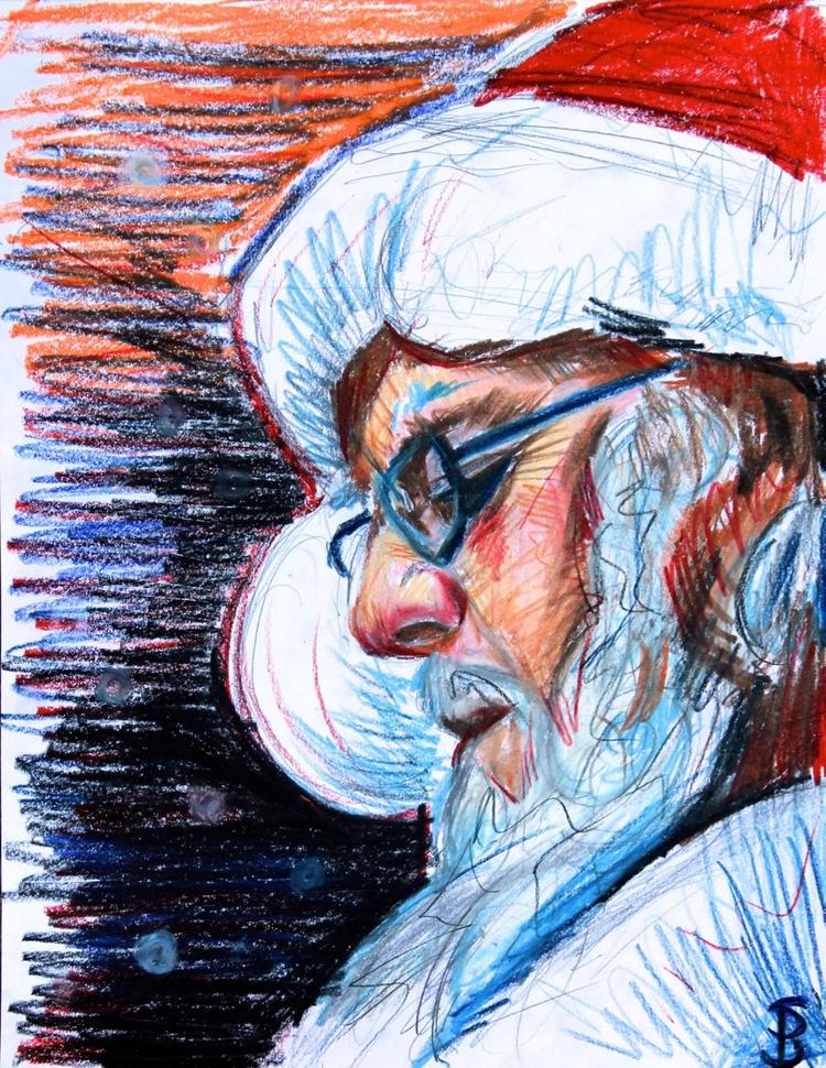 Santa Sketch (colored pencil) S - skyler_brown_portraits | ello