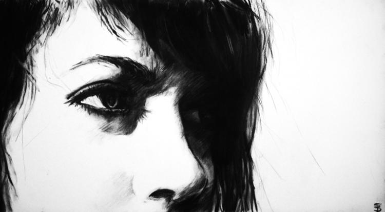 Maya (charcoal drawing) Skyler  - skyler_brown_portraits | ello