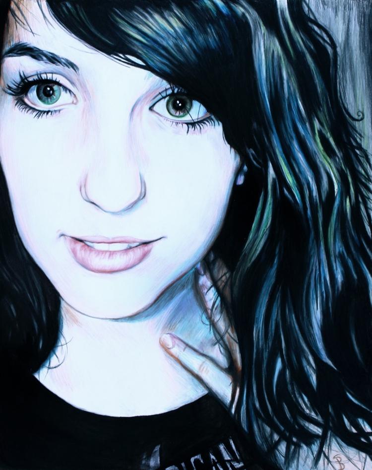 Lora (colored pencil drawing) S - skyler_brown_portraits   ello