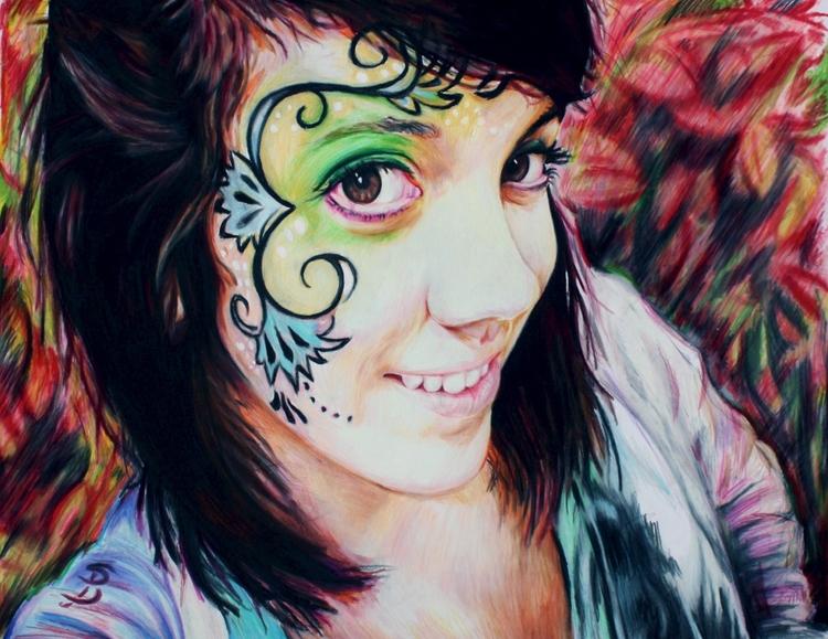 Maya (colored pencil drawing) S - skyler_brown_portraits | ello