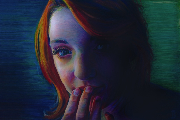 Kat (colored pencil drawing) Sk - skyler_brown_portraits | ello