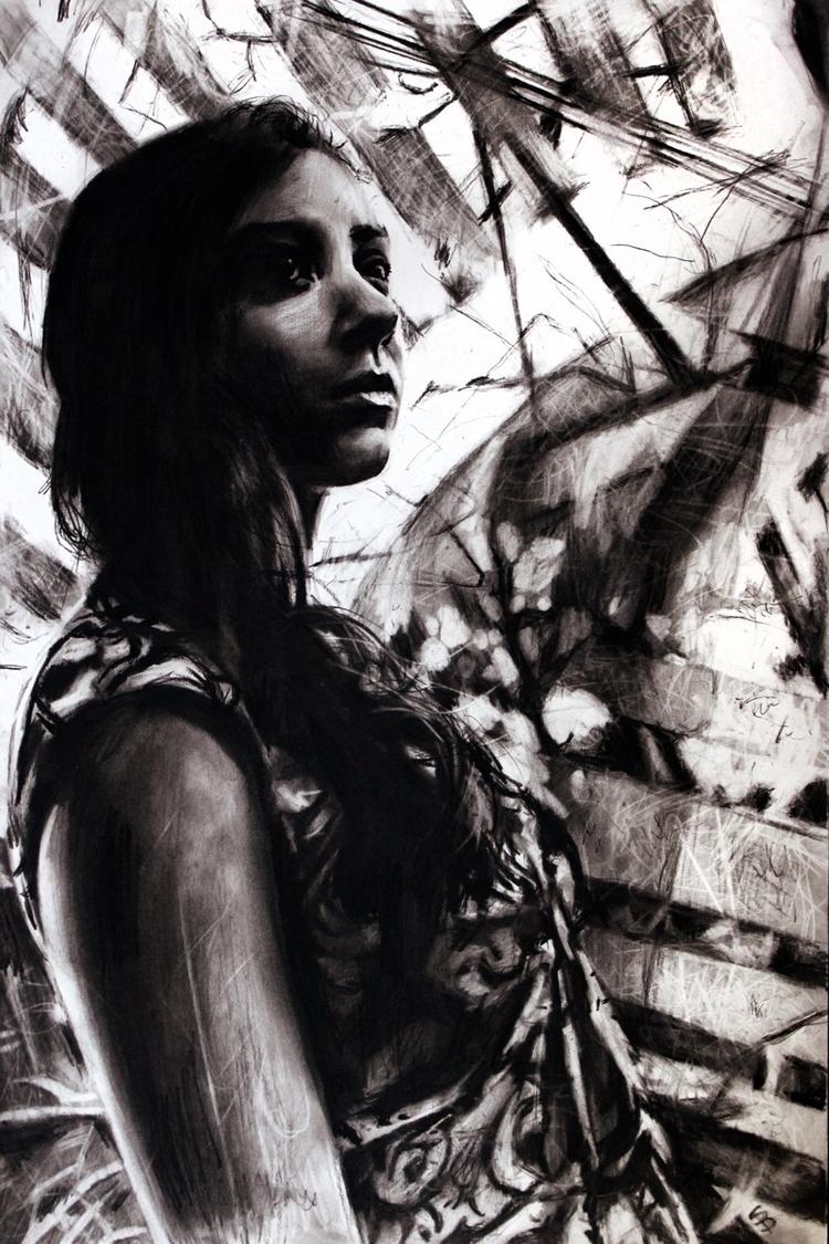 Caitlin (charcoal drawing) Skyl - skyler_brown_portraits | ello