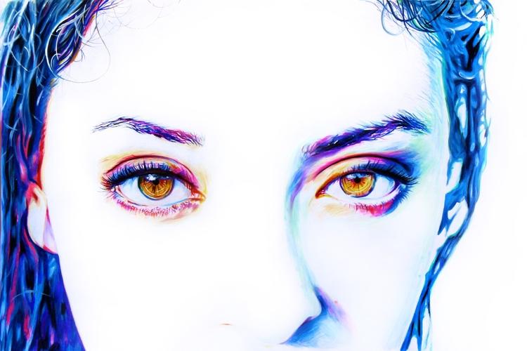 Iridescence (colored pencil dra - skyler_brown_portraits | ello
