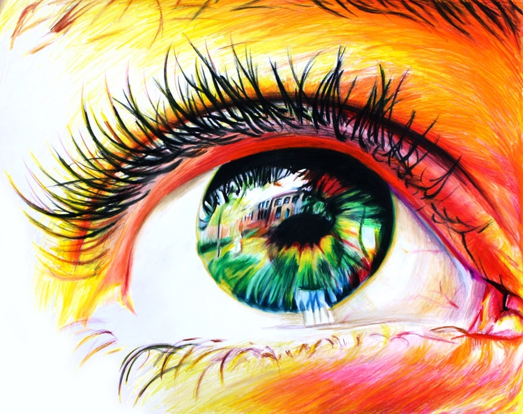 Sun Eyes (colored pencil drawin - skyler_brown_portraits | ello