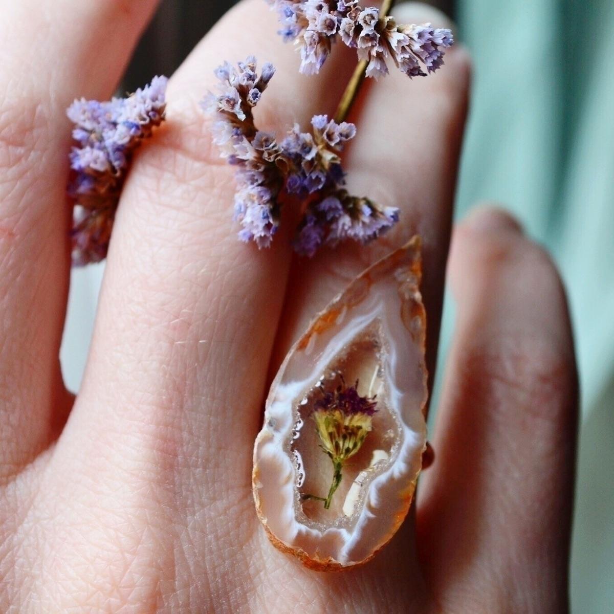 Flower agate rings week etsy! b - sacraluna | ello