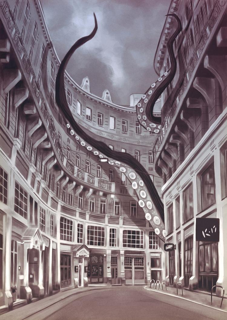 Octopus Budapest. painting - digitalpainting - mrbraintree | ello