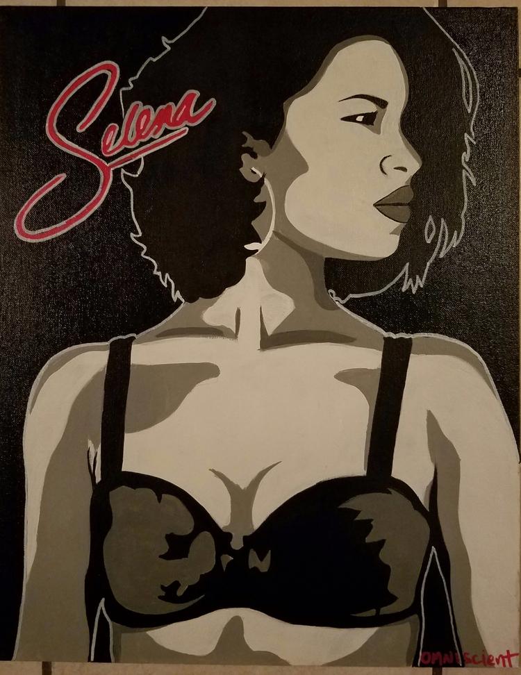Selena acrylic canvas - omni_art | ello