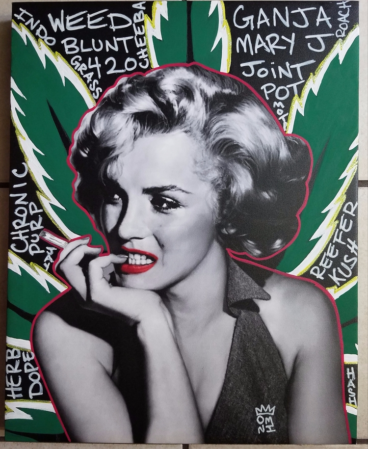 Marilyn Monroe acrylic canvas - omni_art | ello