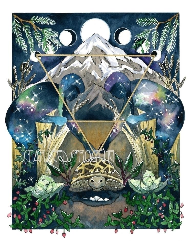 Earth Elemental art prints Etsy - starseedsprouting | ello