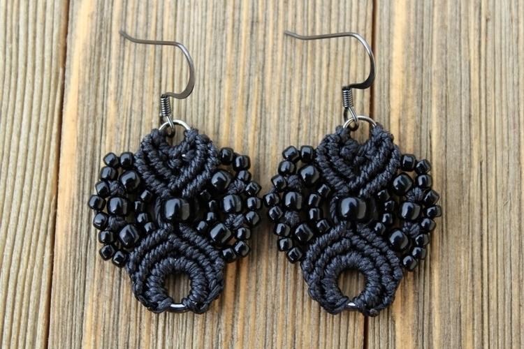 obsessed making sorts earrings  - hkmacramejewelry | ello