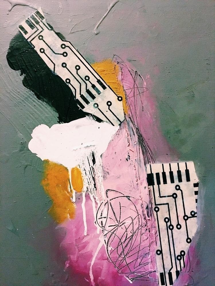 painting, mixedmedia, memory - addyeb   ello