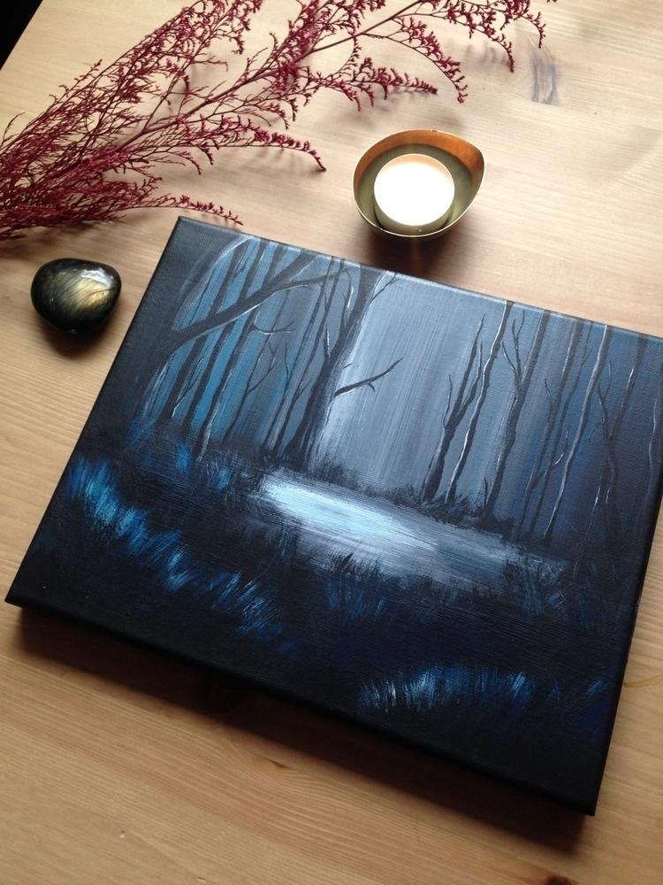 Depths soul - painting, art, forest - everjupiter | ello