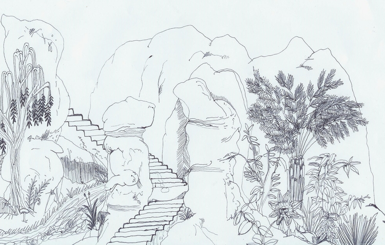 'misty stairs grotto' ~2013 - jio_and_her_rags | ello