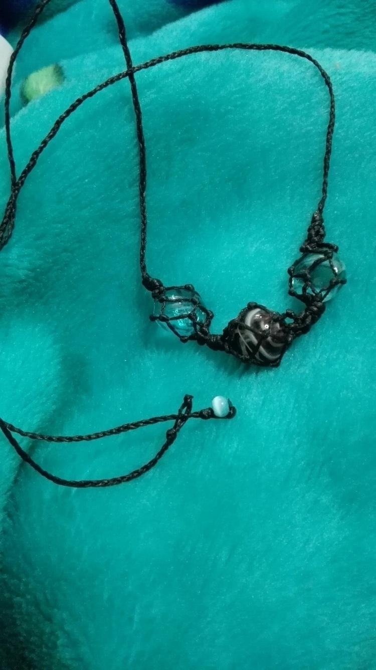 Macrame necklace stones - owl_lady_creations | ello