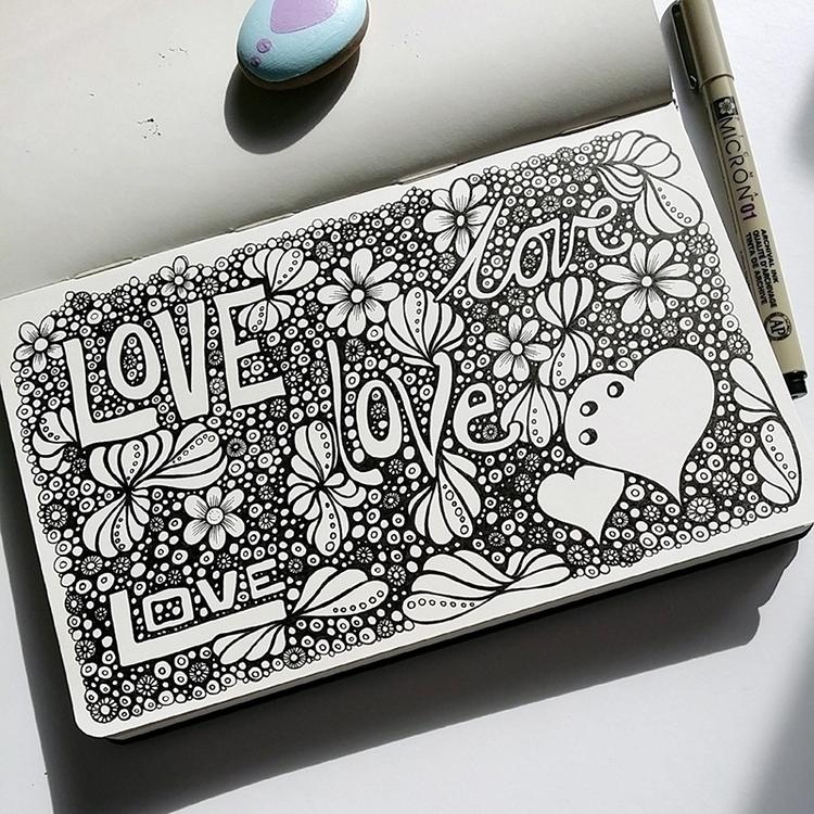posted today - peace, love, moleskine - lorriewhittington | ello