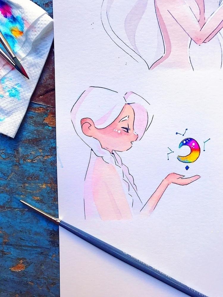 artwork, watercolor - sarafaber | ello