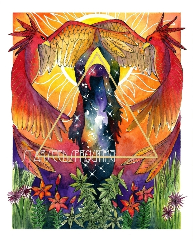 Fire Elemental art prints Etsy  - starseedsprouting | ello