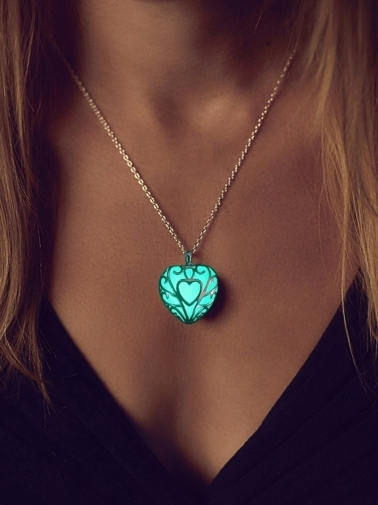 beautiful? Aqua Glow Dark Heart - epicglows | ello