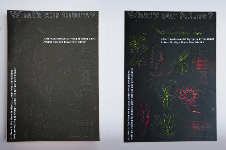 Leds poster // Alien Robots dig - florinecaro | ello