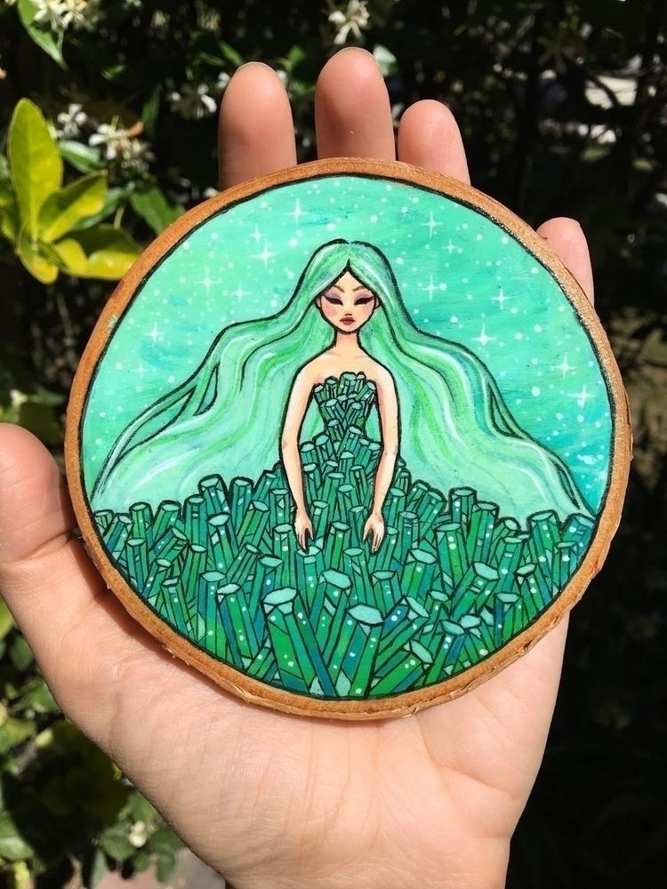 Green Emerald Goddess - emerald - danielleboinayart | ello